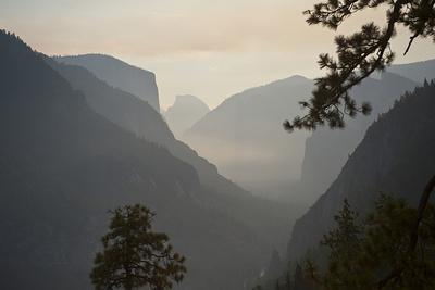 California, Yosemite National Park, Artists Point, El Capitan, Sentinel Dome