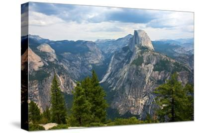 California, Yosemite National Park, Half Dome, North Dome and Mount Watkins