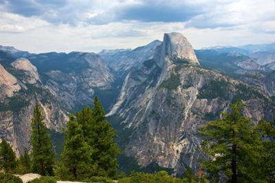 California, Yosemite National Park, Half Dome, North Dome and Mount Watkins