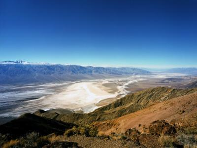 Dante's View in the Black Mountains, Death Valley's Badwater Basin and the Panamint Range, CA