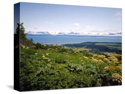 Kachemak Bay From Homer Looking To the Kenai Mountains Across Homer Spit, Alaska, USA