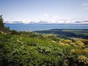 Kachemak Bay From Homer Looking To the Kenai Mountains Across Homer Spit, Alaska, USA by Bernard Friel