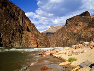 Looking Up River From Below Hance Rapid, Grand Canyon National Park, Arizona, USA by Bernard Friel