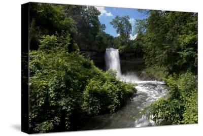 Minnesota, Minneapolis, Minnehaha Falls Park During Flood of the Creek