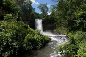 Minnesota, Minneapolis, Minnehaha Falls Park During Flood of the Creek by Bernard Friel