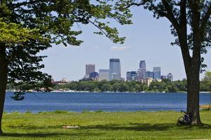 Minnesota, Minneapolis, Skyline over Lake Calhoun by Bernard Friel