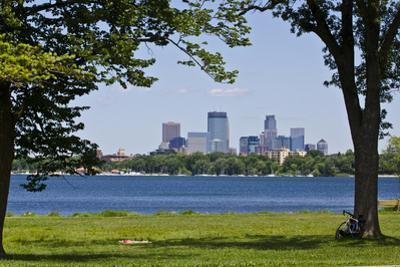 Minnesota, Minneapolis, Skyline over Lake Calhoun by Bernard Friel