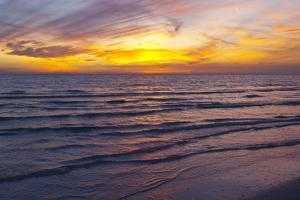 Sunset on Crescent Beach, Siesta Key, Sarasota, Florida, USA by Bernard Friel
