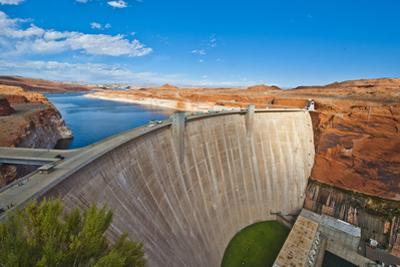 USA, Arizona, Page, Glen Canyon Dam by Bernard Friel