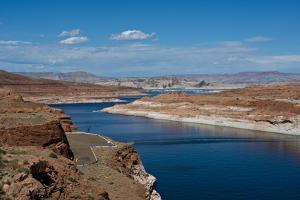 USA, Arizona, Page, Lake Powell Vistas, From Wahweap Overlook by Bernard Friel