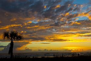 USA, Florida, Sarasota, Siesta Key. Seascape at sunset by Bernard Friel