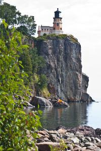 USA, Minnesota, North Shore, Lake Superior, Split Rock Lighthouse Station. by Bernard Friel