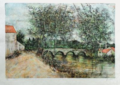Le Pont De Pierre by Bernard Gantner