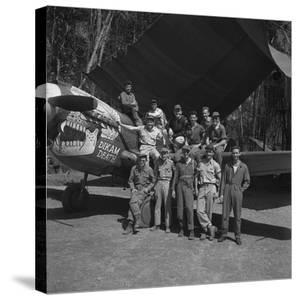 An 88th Flight Squadron Crew on the Ledo Road, Burma, 1944 by Bernard Hoffman