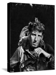 Battle-Weary Soldier, Member of Merrill's Marauders, Pausing with Cigarette, Burma Campaign in WWII by Bernard Hoffman