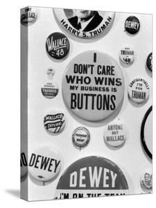 Campaign Buttons by Bernard Hoffman