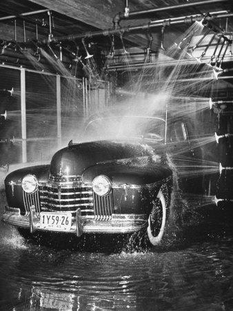 Car Rolling Through the Car Wash at Rockefeller Center