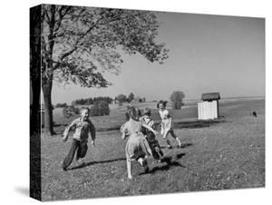 Children Playing at Recess by Bernard Hoffman