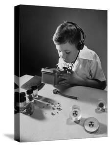 Geiger Counter with Earphones Sensitive Enough to Detect Radioactivity of a Watch by Bernard Hoffman
