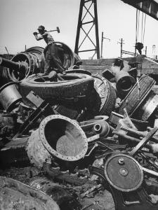 General View of Scrap Metal at Plant by Bernard Hoffman