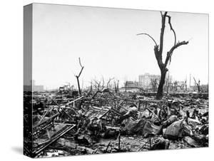 Hiroshima in Ruins Following the Atomic Bomb, Dropped at End of WWII by Bernard Hoffman