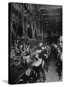 Men and Women Working in the Elgin National Watch Co. Factory by Bernard Hoffman