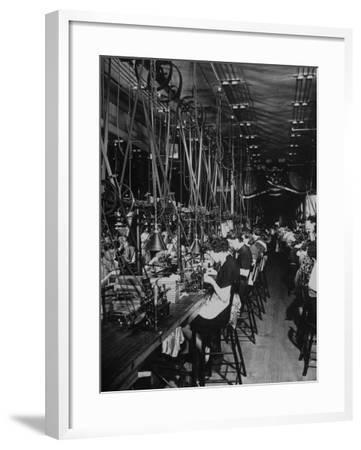 Men and Women Working in the Elgin National Watch Co. Factory