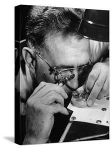 Mr. Blank Regulating the Unit at the Elgin Watch Co. Plant by Bernard Hoffman