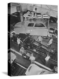 New Studebaker Being Assembled in Factory by Bernard Hoffman