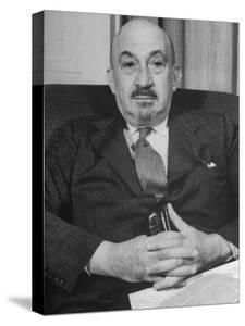 Portrait of Jewish Rabbi, Religious Leader, and Future President of Israel Dr. Chaim Weizmann by Bernard Hoffman