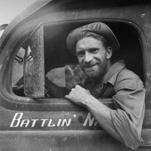 Portrait of Us Army Ambulance Driver Ea Nashlund (Of Portland, Oregon), Ledo Road, Burma, July 1944 by Bernard Hoffman