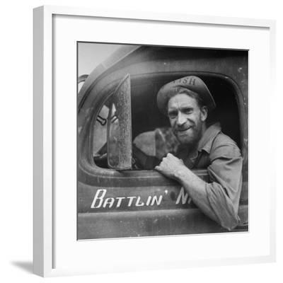 Portrait of Us Army Ambulance Driver Ea Nashlund (Of Portland, Oregon), Ledo Road, Burma, July 1944