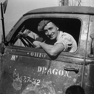 Portrait of Us Army Cpl Kenneth C Atkins (Of Marion, North Carolina), Ledo Road, Burma, July 1944 by Bernard Hoffman
