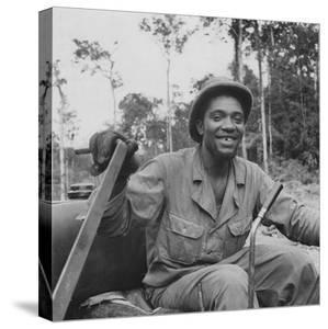 Portrait of Us Army Driver Earlie Colbert (From Maryland), Ledo Road, Burma, July 1944 by Bernard Hoffman