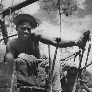Portrait of Us Army Driver Joe Greene (Of Jacksonville, Florida), Ledo Road, Burma, July 1944 by Bernard Hoffman