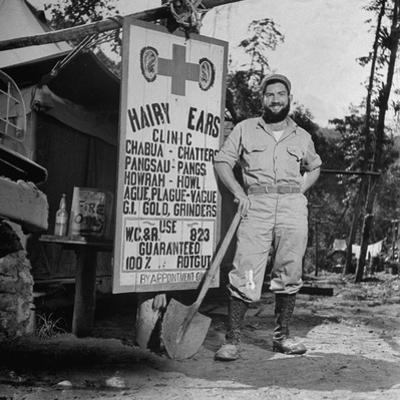 Portrait of Us Army Worker Ferdinand a Robichaux, Burma, July 1944 by Bernard Hoffman