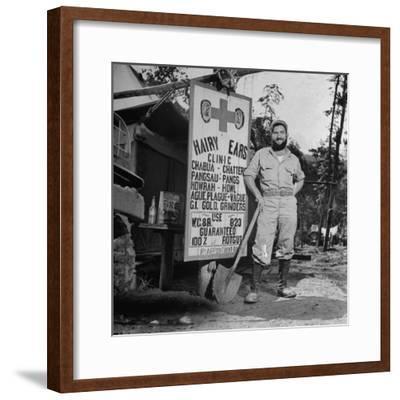 Portrait of Us Army Worker Ferdinand a Robichaux, Burma, July 1944