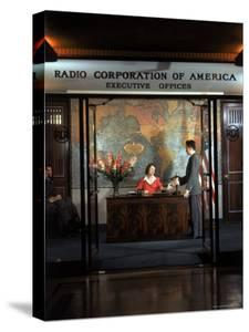 Receptionist at RCA Executive Offices in RCA Building in Rockefeller Center, New York City by Bernard Hoffman