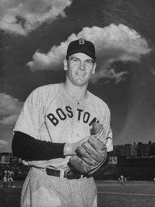 Red Sox Player Dave Ferriss Posing with Glove in His Hands by Bernard Hoffman
