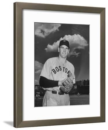 Red Sox Player Dave Ferriss Posing with Glove in His Hands