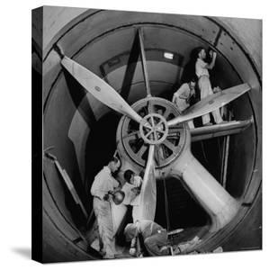 Scientists at California Institute of Technology Working on Large Propeller by Bernard Hoffman