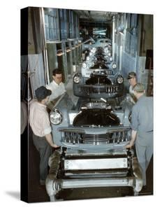 Studebaker Assembly Line in South Bend Indiana, c.1946 by Bernard Hoffman