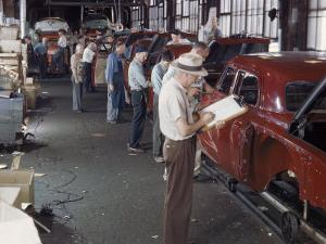 Studebaker Assembly Line in South Bend Indiana by Bernard Hoffman