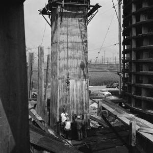 The New Jersey Turnpike under Construction by Bernard Hoffman