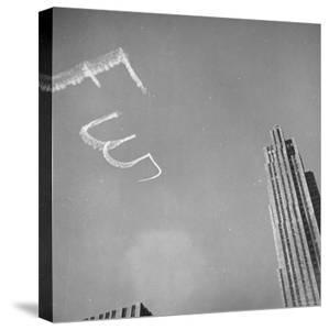View Showing an Air Advertisement by Bernard Hoffman