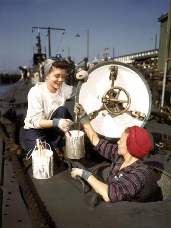Women Building Submarines at Electric Boat Co., New London, Conn by Bernard Hoffman