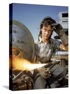Women Building Submarines at Electric Boat Co, New London, Connecticut by Bernard Hoffman