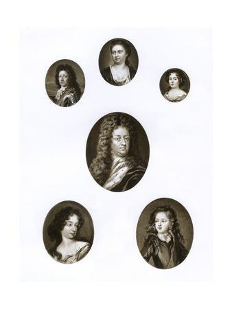 Group of Royal Portraits, Late 17th - Early 18th Century