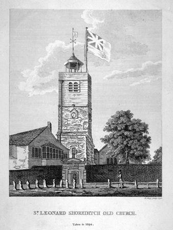 Old St Leonard's Church, Shoreditch, London, 1735