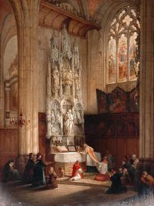 Interior Of The Church Of St Waudru, Mons by Bernard Neyt